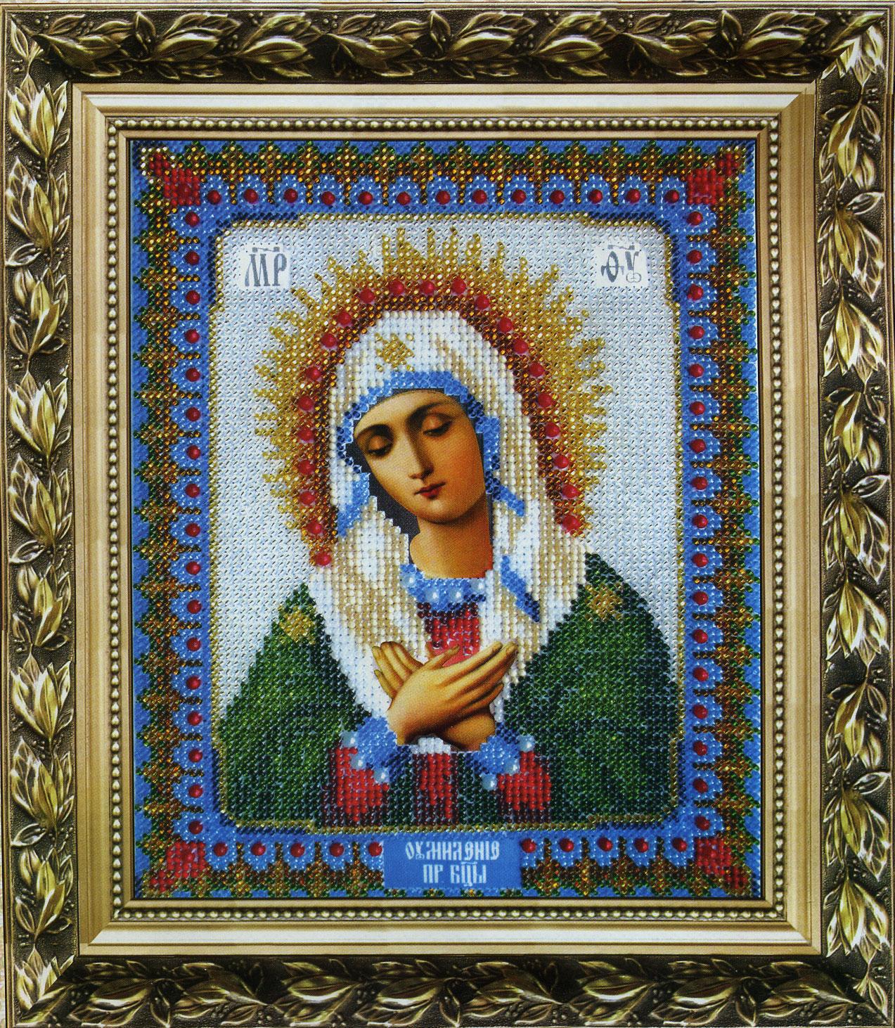Икона умиление. вышивка крестом