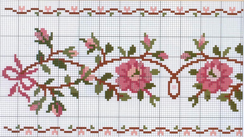 Схема вышивки мулине цветок