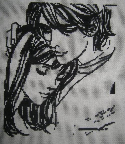 Вышивка крестом схема люди пары