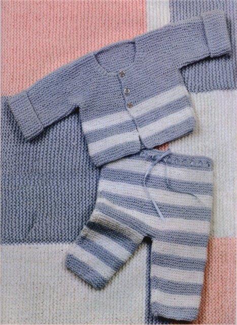 вязаные штанишки спицами для малышей