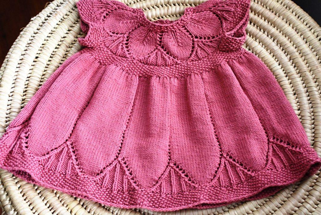 Для малышки платья спицами