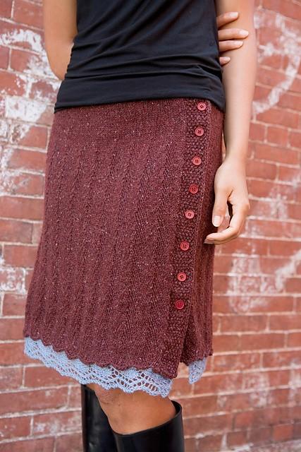 Вязание спицами низ юбки
