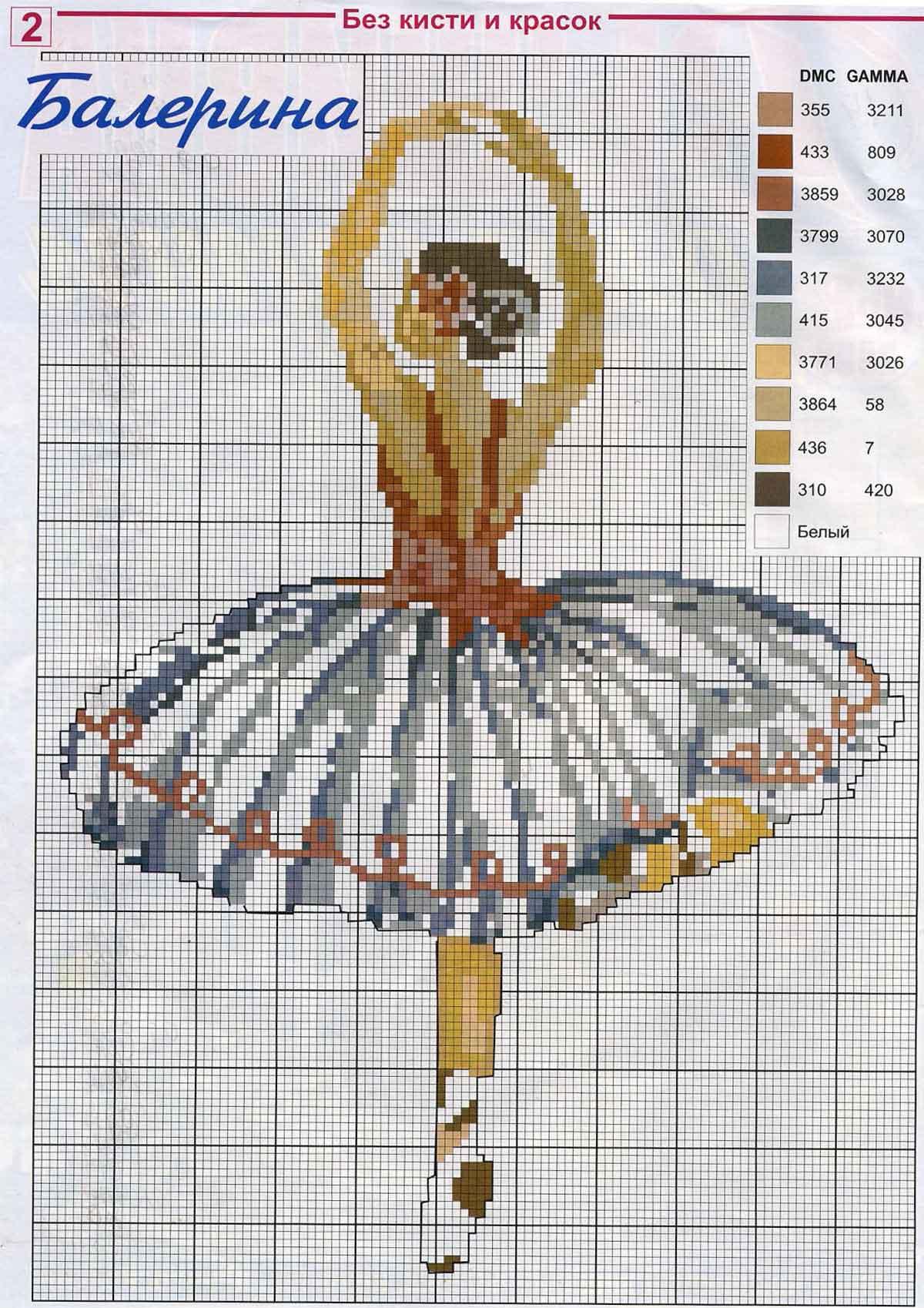 Схемы вышивки крестом танцовщиц