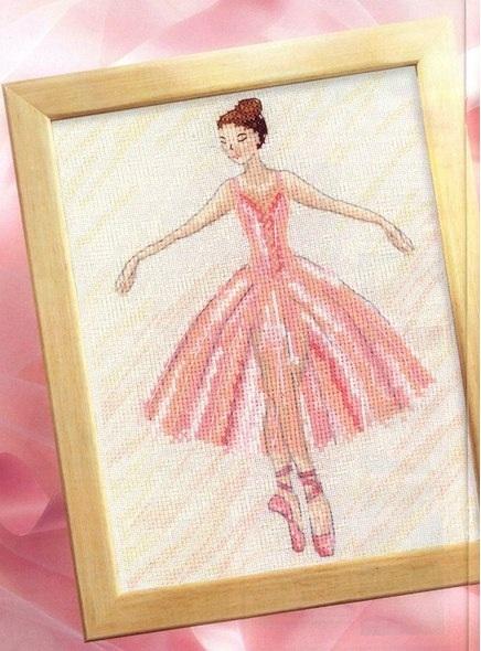 Балерина вышивка фото