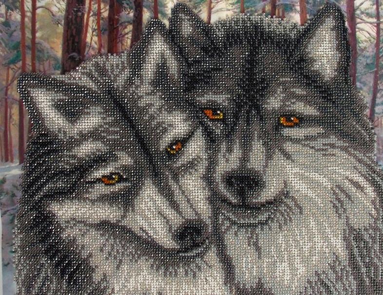Вышивка пары волков значение