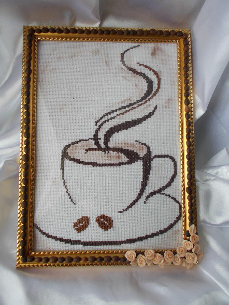 монохромная вышивка крестом кухонная тема схемы